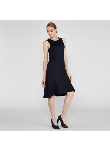 Vekem-Limited Edition Asimetrik Kesim Elbise Siyah